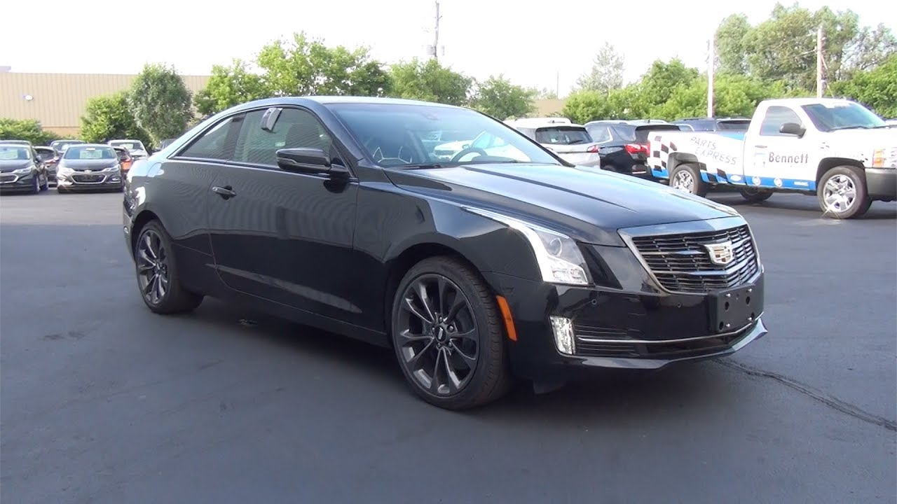 2017 Cadillac Ats Coupe Awd Black Raven Youtube