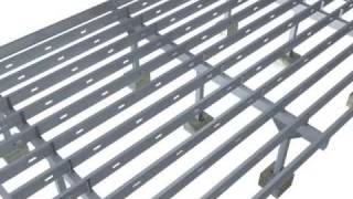steel deck 3d  installation movie