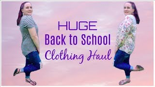 HUGE FALL BACK TO SCHOOL CLOTHING HAUL | Allie Young