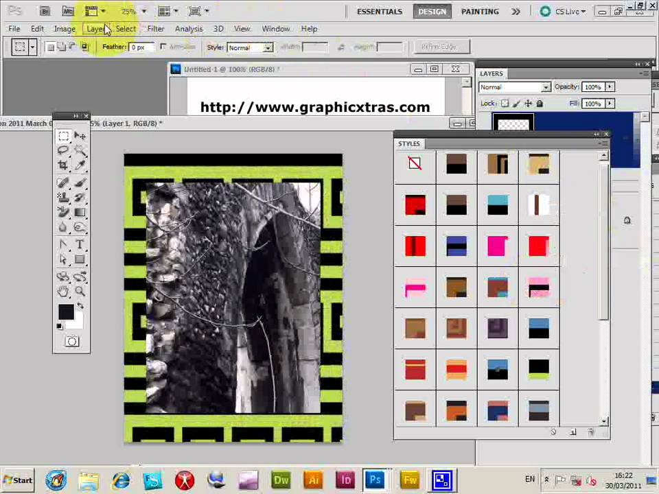 Photoshop Borders And Frames Matted Picture Frame
