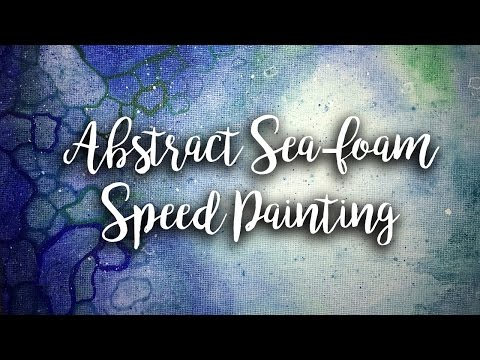 Abstract sea-foam speed painting