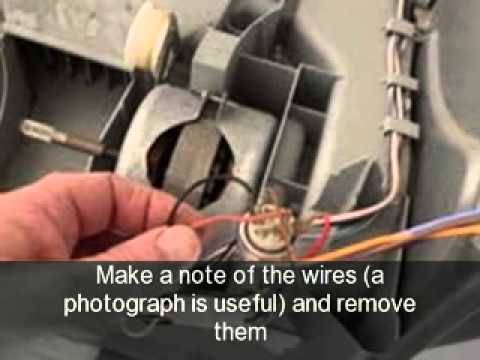How to change the motor on a tumble dryer ariston creda hotpoint how to change the motor on a tumble dryer ariston creda hotpoint indesit proline etc cheapraybanclubmaster Images