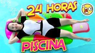 24 HORAS en la Piscina | NO SE NADAR!!! | Juega con Adri thumbnail