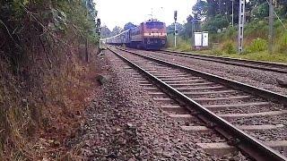 Hyderabad - Trivandrum Sabari Express enters Tiruvalla