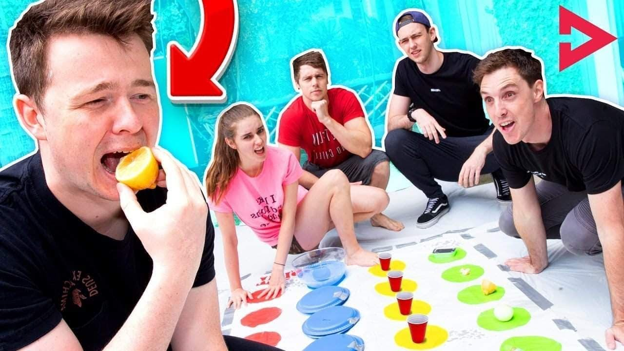EXTREME DARE TWISTER! Ft. Lazarbeam, Muselk,  Loserfruit, BazzaGazza and Marcus