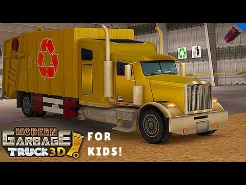 Modern City Garbage Truck l For Kids - 동영상