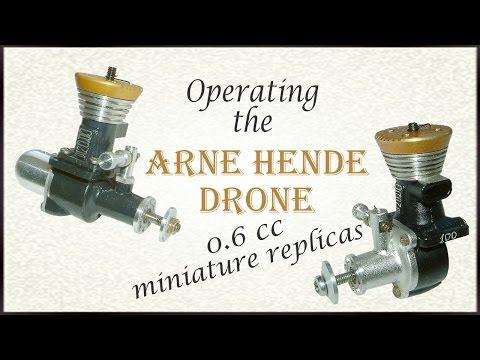 Operating the Arne Hende miniature Drone diesels
