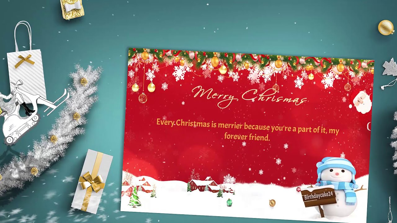 Christmas Greeting Card 🎄|Merry Christmas Wishes Card for 2020