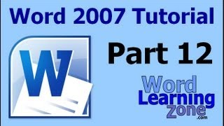 microsoft word 2007 tutorial part 12 of 13 printing emailing