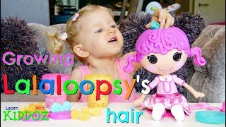 Growing LALALOOPSY'S Hair With PLAY DOH