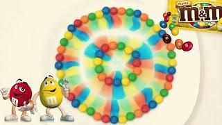 M&M's Rainbow Colorful Magic Experiment