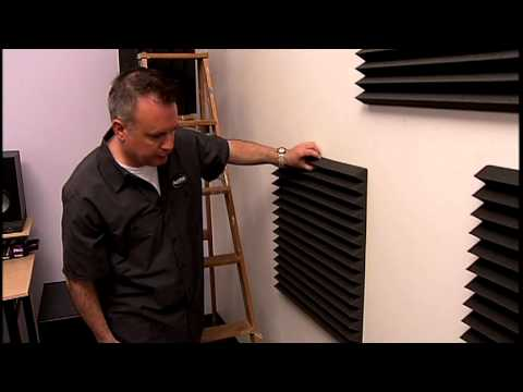 Colocaci n de paneles auralex youtube - Insonorizar pared dormitorio ...