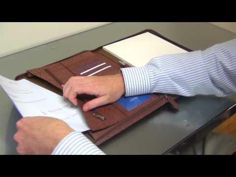 Segovia Leather Portfolio - Myron Corporation