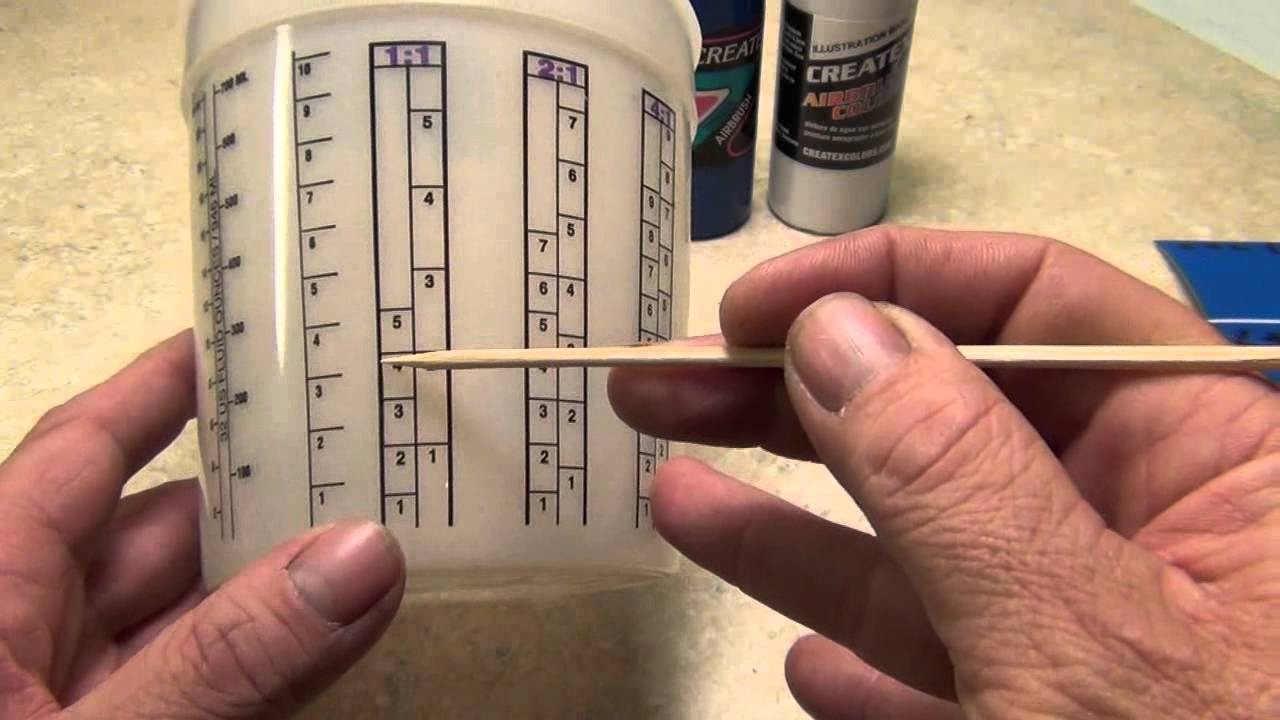 paint mixing ratio chart: Mixing ratios explained youtube