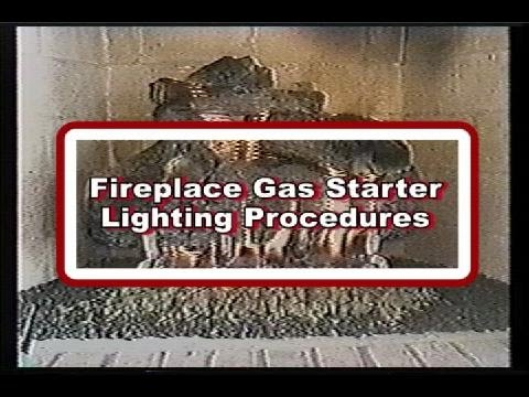 wood starter burning gas kit fireplace