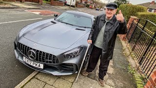 80 Year Old Grandad takes a ride in the Mercedes AMG GTR!