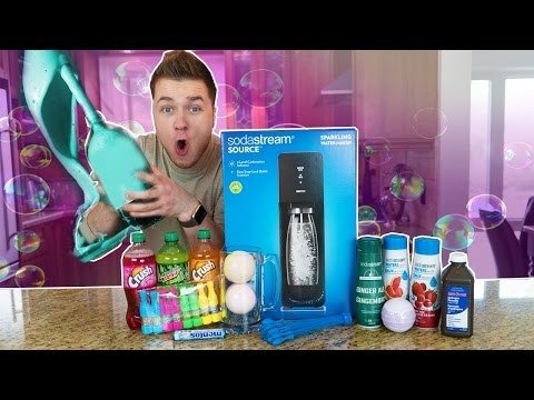 FIZZIEST DRINK IN THE WORLD CHALLENGE! Bath Bombs, Soda Stream, Coke (EXTREMELY DANGEROUS)