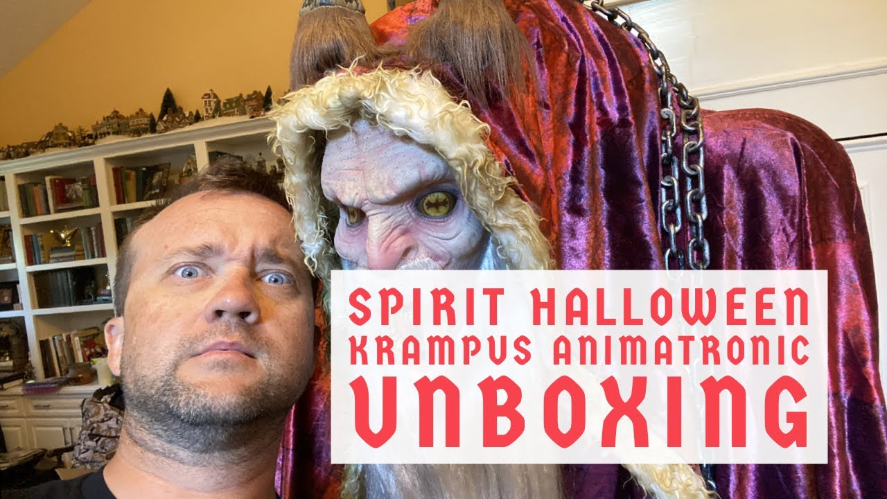Unboxing Halloween 2020 Mask Spirit Halloween 2020 Krampus Animatronic FULL UNBOXING & PREVIEW