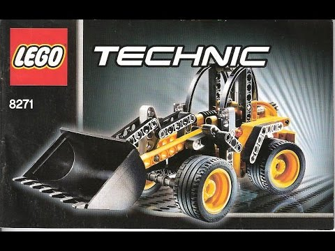 lego technic 8271 2in1 mini radlader youtube. Black Bedroom Furniture Sets. Home Design Ideas
