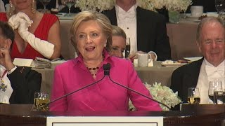 Highlights: Hillary Clinton at Al Smith charity dinner