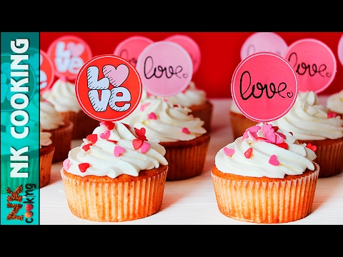 Клубничные Капкейки на День Влюблённых ♥ Десерты на 14 Февраля ♥ Рецепты NK Cooking