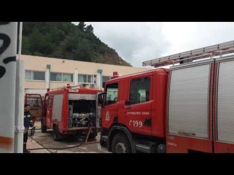 Επέμβαση της Πυροσβεστικής σε εστία φωτιάς στο 2ο ΣΕΚ Πάτρας