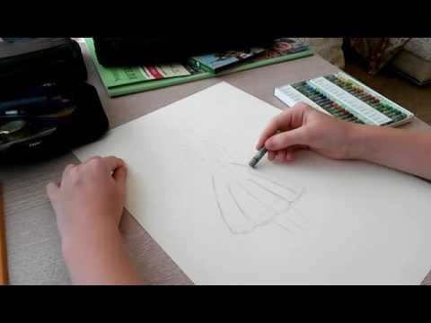 Нарисовать радужную девушку со спины!