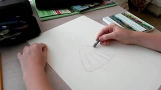 Нарисовать радужную девушку со спины!(Люблю рисовать и снимаю про это видео!, 2016-07-19T15:19:34.000Z)