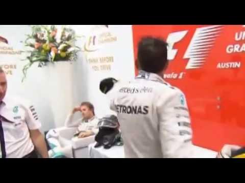 F1 2015 EUA GP Lewis Hamilton lança tampa para Nico Rosberg