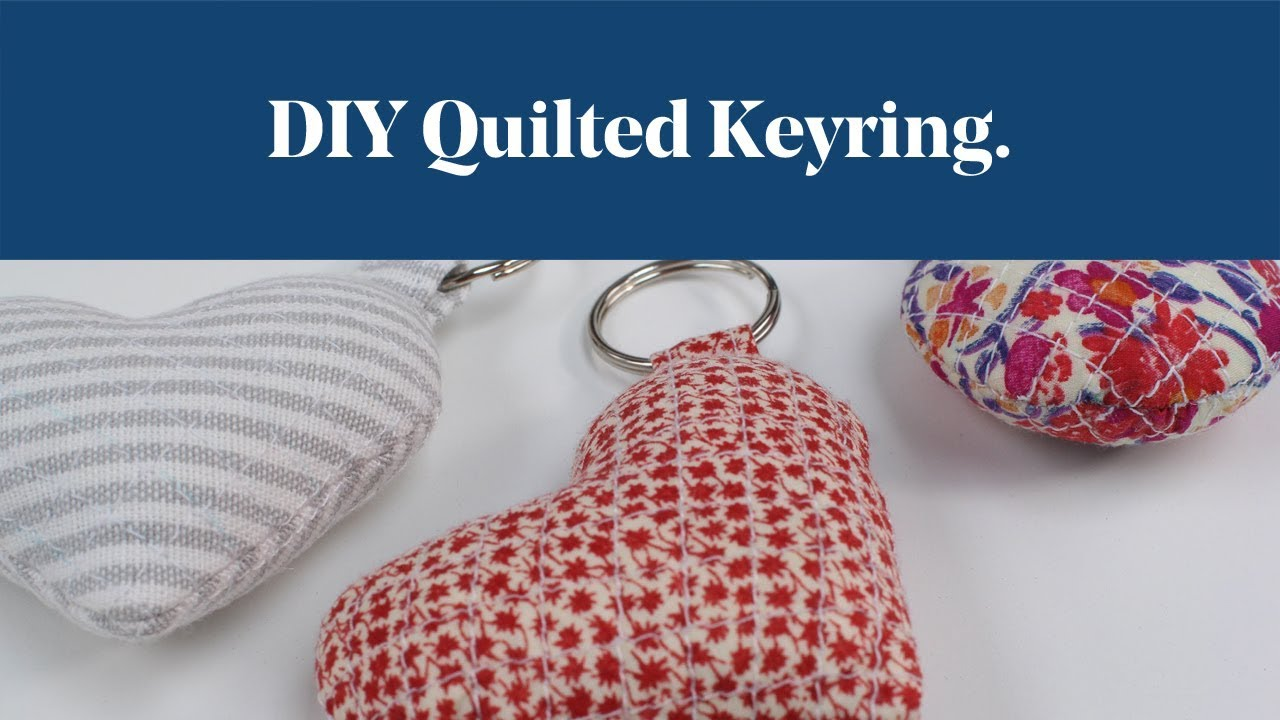 DIY Quilted Keyring YouTube
