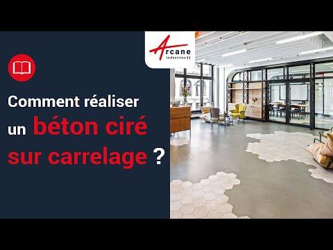 Béton Ciré Sur Carrelage Sol Plan De Travail Salle De Bain