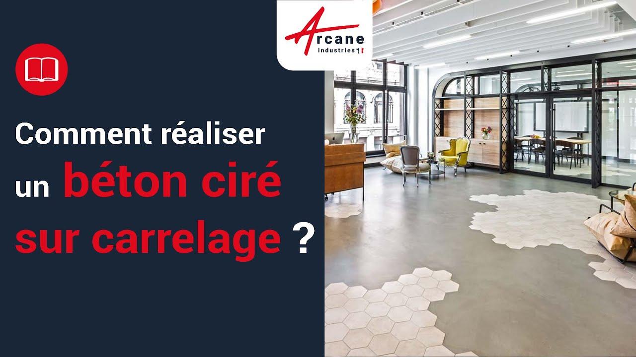 Beton Cire Sur Carrelage Sol Plan De Travail Salle De Bain Youtube