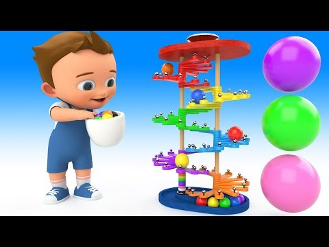 Thumbnail: Learn Colors for Children with Baby PingPong Balls Wooden Slider Toy Set 3D Kids Toddler Educational