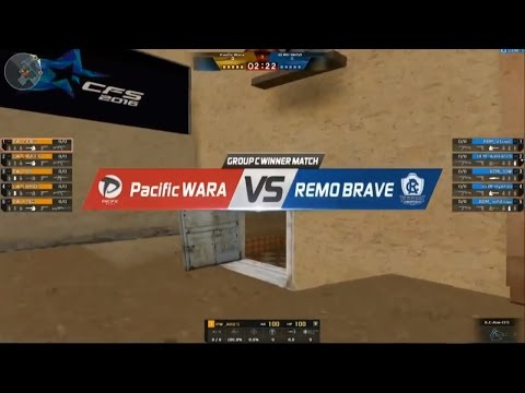 CFS2016 REMO BRAVE VS Pacific Wara Group C Day1 Map Mexico