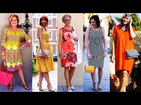Модные летние платья для женщин за 50 П�� Стильные женские платья на каждый день Лето 2018 фото обзор