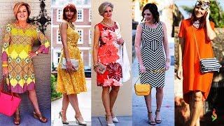 Модные летние платья для женщин за 50 ???? Стильные женские платья на каждый день Лето 2018 фото обзор