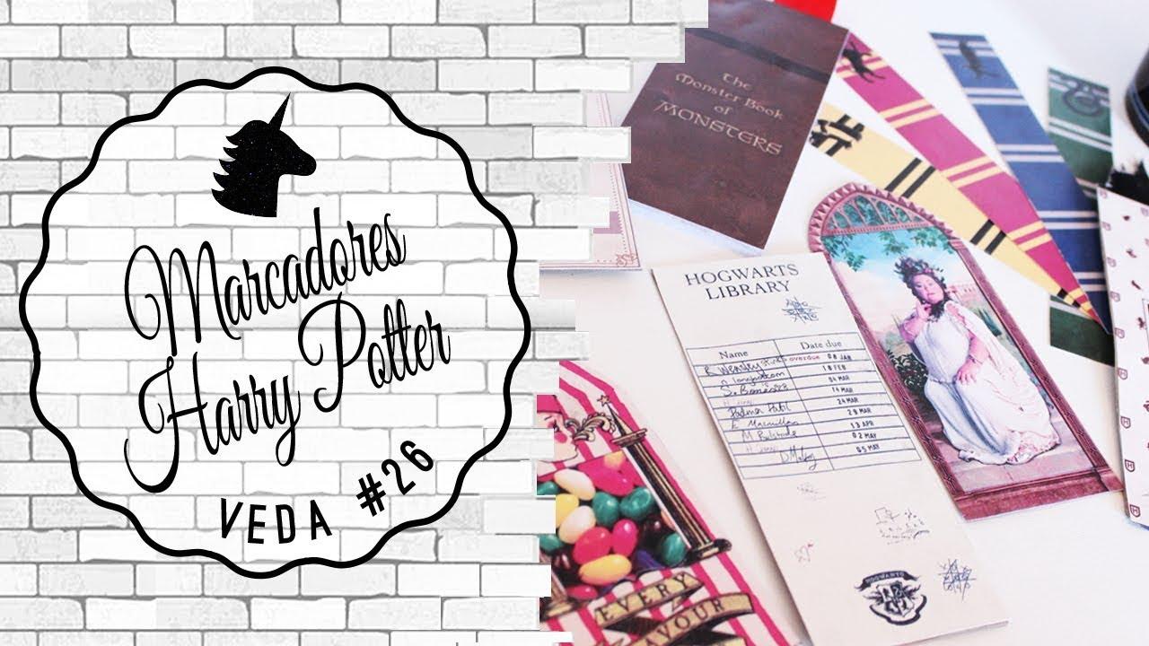Marcadores De Pagina De Harry Potter Para Baixar E Imprimir