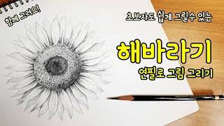 [가볼쌤] 초보자도 쉽게 그릴 수 있는 연필로 해바라기…