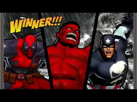 Ultimate Marvel vs. Capcom 3 - Deadpool/Captain America/Hulk Playthrough