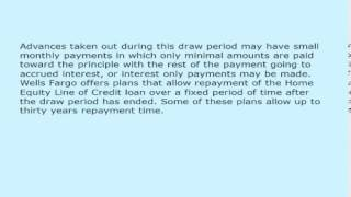 Wells Fargo Home Equity Lines Of Credit Explained 989