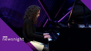 Bach's Goldberg Variations Aria played by Beatrice Rana - BBC Newsnight