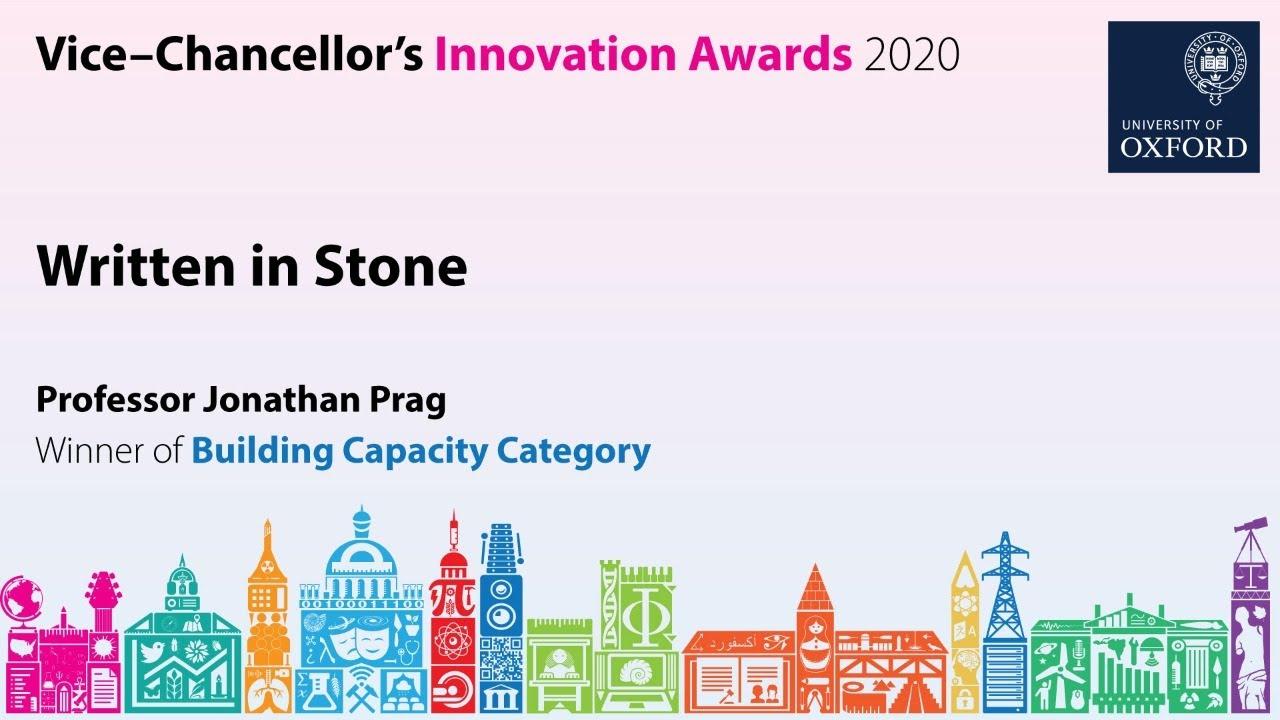 Innovation Conversations:  Written in Stone with Professor Jonathan Prag