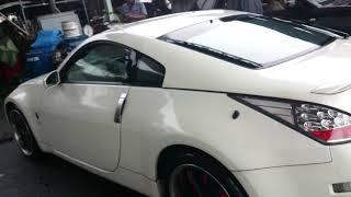Видео-тест автомобиля Nissan Fairlady Z ( Z33-403120, Vq35de, белый, 2005г)