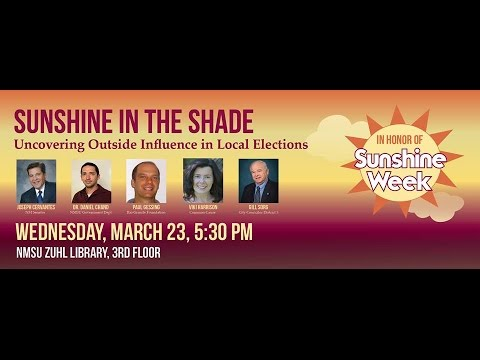 Sunshine in the Shade:  Uncovering Outside Influence in Local Politics defa