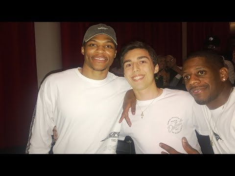 RUSSELL WESTBROOK CAME OVER AND SURPRISED ME