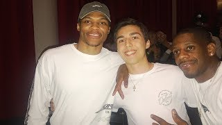 RUSSELL WESTBROOK CAME OVER AND SURPRISED ME thumbnail