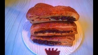 Пирожное из Слоено дрожжевого теста ! Заварной крем и темный шоколад!  / Pastry made of Puff dough