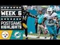 Steelers Vs. Dolphins (week 6)   Game Highlights   Nfl video