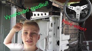 Škoda 125 vlog 9, !!VYVAŘOVÁNÍ SPODKU!!, nový volant(:kutilovna:)