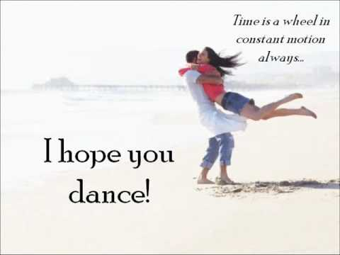 Lee Ann Womack - I hope you dance (with lyrics and inspirational images)